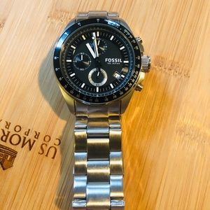 Black Fossil 10 atm watch